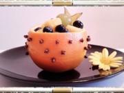 """Aromatische """"Orangen-Schüssel"""" mit buntem Obst gefüllt - Rezept"""