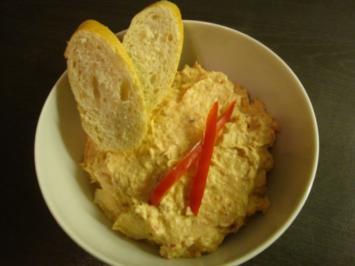 Thunfisch-Frischkäse-Aufstrich mit Paprika - Rezept