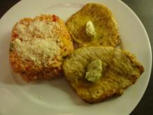 Tomaten-Paprika-Reis mit Minutensteaks und Kräuterbutter - Rezept