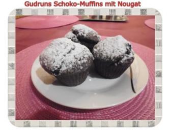 Rezept: Muffins: Schokomuffins mit Nougat
