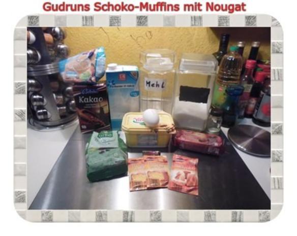 Muffins: Schokomuffins mit Nougat - Rezept - Bild Nr. 2