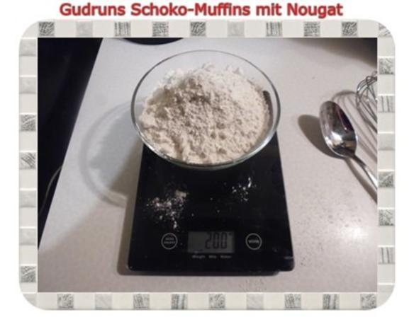 Muffins: Schokomuffins mit Nougat - Rezept - Bild Nr. 3