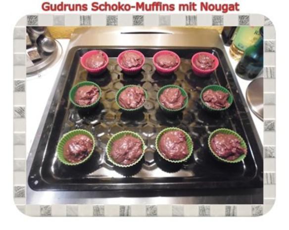 Muffins: Schokomuffins mit Nougat - Rezept - Bild Nr. 13
