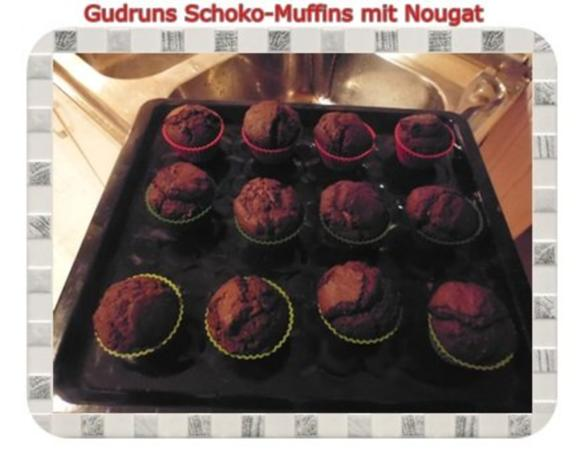 Muffins: Schokomuffins mit Nougat - Rezept - Bild Nr. 17