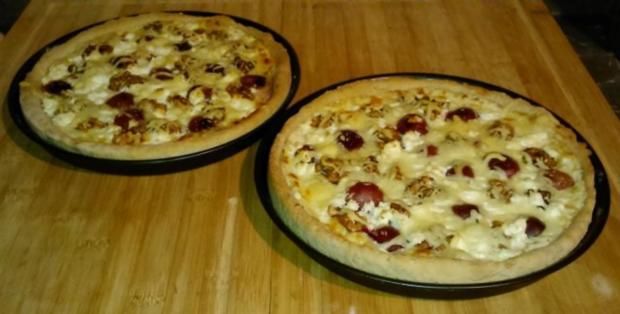 Pizza-Traube-Nuss - Rezept