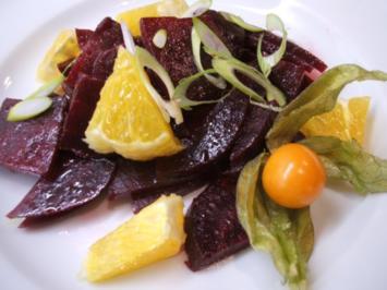 Rezept: Salate: Winterlicher Rote Bete Salat mit Orangen