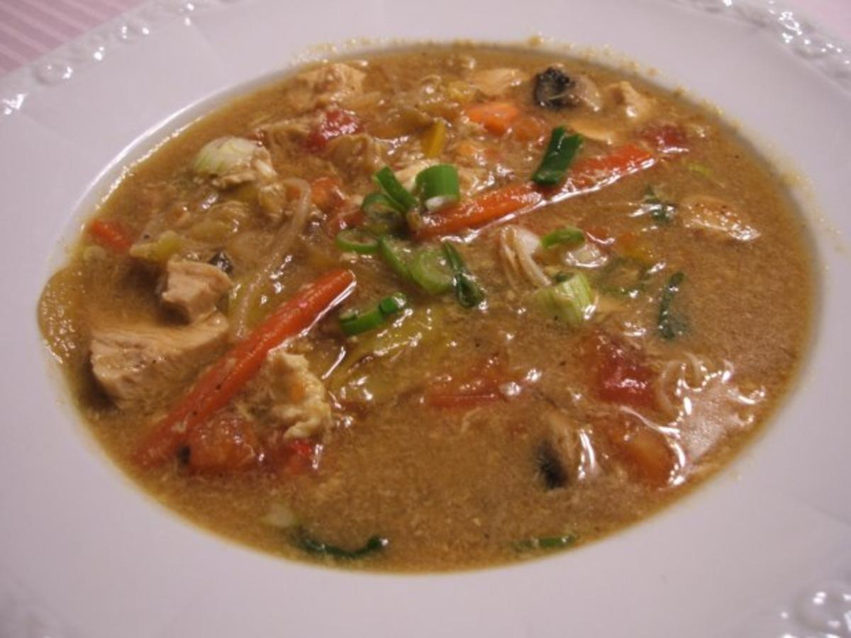 """Suppen: Hühnersuppe """"Shanghai"""" - Rezept Eingereicht von lunapiena"""