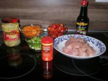Gemüse und Huhn aus dem Wok - Rezept