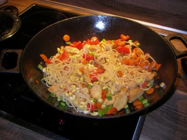 Gemüse und Huhn aus dem Wok - Rezept - Bild Nr. 4
