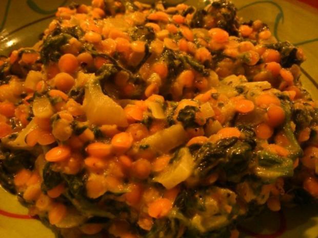 Spinat-Dal mit roten Linsen - Rezept - Bild Nr. 4