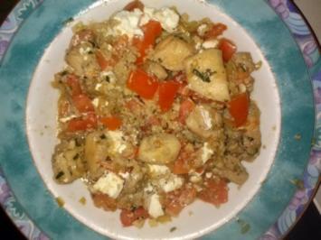 Huhn mit Tomaten und Feta - Rezept