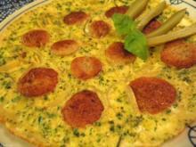 Bratwurst - Zwiebel - Käse - Omelett ... - Rezept