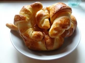 Frühstücks-Butterhörnchen - Rezept