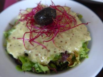 Rezept: Salat : Gemischten Salat mit Avocado - Senf - Sauce