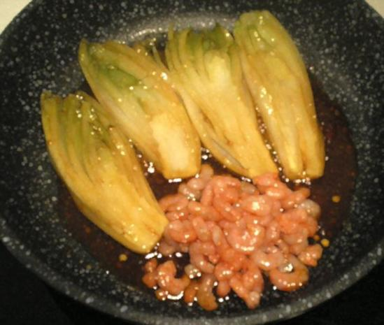 Chicorée mit Shrimps gedünstet - Rezept - Bild Nr. 9