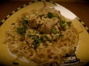 Thuna auf Reisnudeln - Rezept
