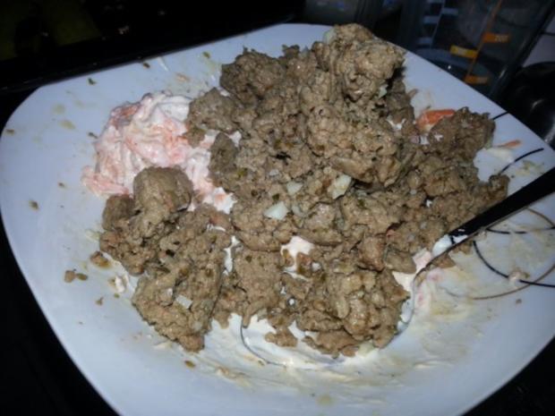 Cannelloni mit cremiger Hackfleischfüllung überbacken mit Tomatensugo - Rezept - Bild Nr. 5