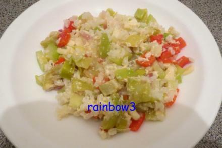 Auflauf: Gemüse mit Reis - Rezept
