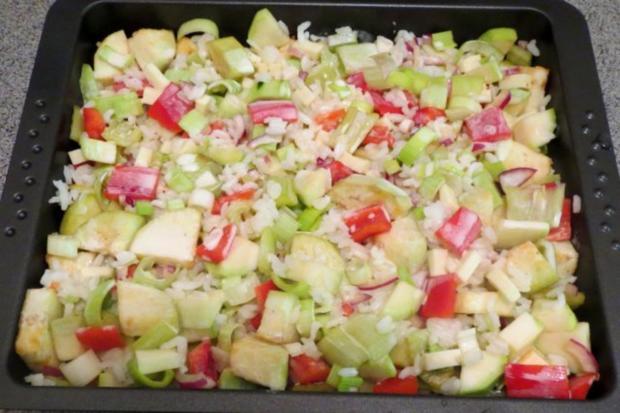 Auflauf: Gemüse mit Reis - Rezept - Bild Nr. 3