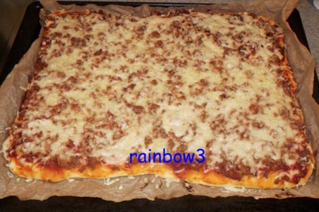 Pizza: Thunfisch - Rezept