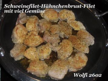 Schwein : Medalions mit Schweinefilet und Hähnchenbrust als Partyknüller - Rezept