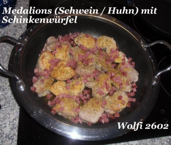 Schwein : Medalions mit Schweinefilet und Hähnchenbrust als Partyknüller - Rezept - Bild Nr. 3