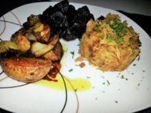 Gebackene Balsamico Kartoffeln mit karamellisiertem Sauerkraut - Rezept