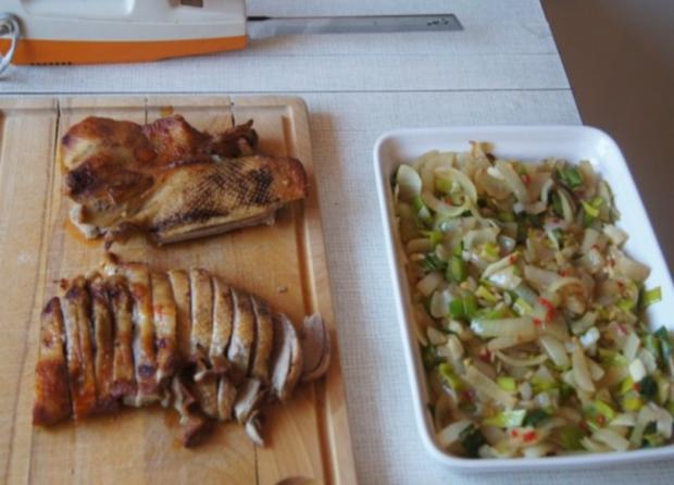 Gourmet Knusperente mit orientalischen Reis und Erdnusssauce - Rezept - Bild Nr. 7