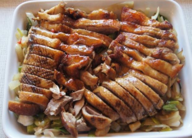 Gourmet Knusperente mit orientalischen Reis und Erdnusssauce - Rezept - Bild Nr. 8