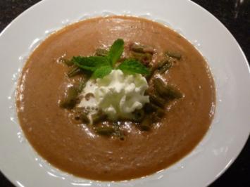 Bohnen Crème Suppe - Rezept