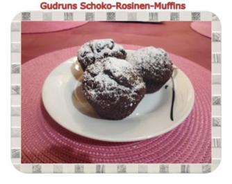 Muffins: Schoko-Rosinen-Muffins - Rezept