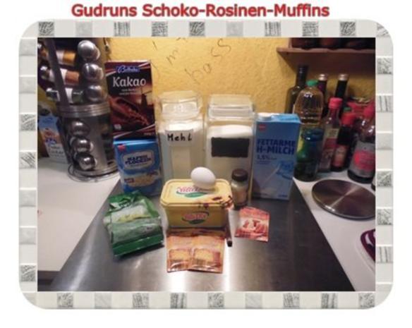 Muffins: Schoko-Rosinen-Muffins - Rezept - Bild Nr. 2