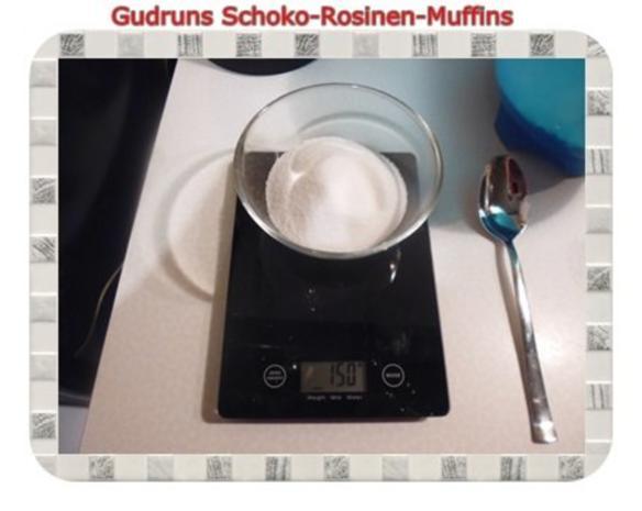 Muffins: Schoko-Rosinen-Muffins - Rezept - Bild Nr. 5