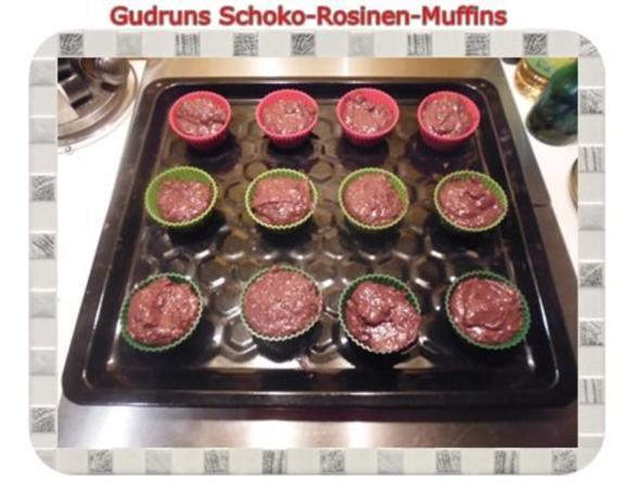 Muffins: Schoko-Rosinen-Muffins - Rezept - Bild Nr. 11