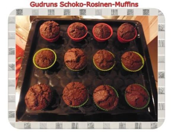 Muffins: Schoko-Rosinen-Muffins - Rezept - Bild Nr. 15