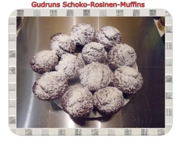 Muffins: Schoko-Rosinen-Muffins - Rezept - Bild Nr. 17