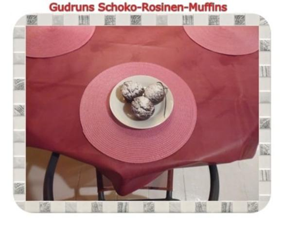 Muffins: Schoko-Rosinen-Muffins - Rezept - Bild Nr. 18