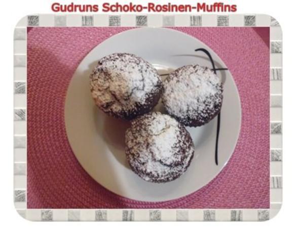 Muffins: Schoko-Rosinen-Muffins - Rezept - Bild Nr. 19