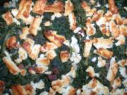 Pangasius auf Reisbett mit Spinat und Feta überbacken - Rezept