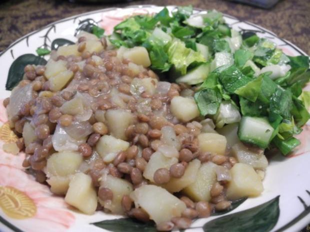 Kartoffel - Linsen süss-sauer - Rezept