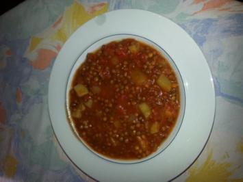 Linsen-Suppe mit Kartoffeln, vegetarisch - Rezept