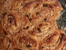 Apfel-Rosinen-Schnecken - Rezept
