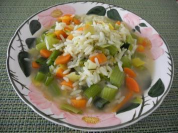 Reis - Gemüse - Suppe - Rezept