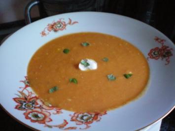 Suppe: Möhren-Ingwer-Orangensuppe - Rezept