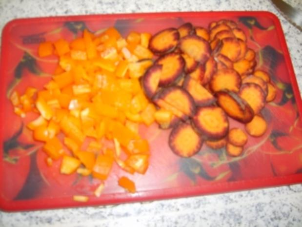 Bunte Ebli-Pfanne mit Hähnchenbrustfilet - Rezept