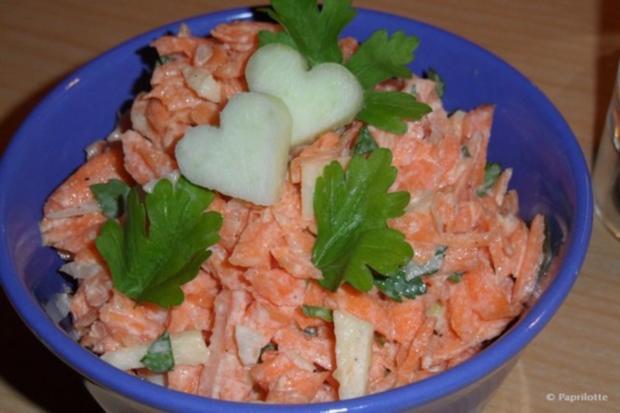 Karottensalat mit Meerrettich - Rezept