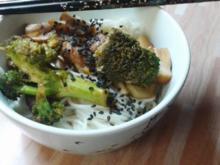 Stir fry mit Brokkoli und Pilzen - Rezept