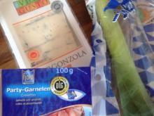 Porree-Pilz -Pfanne mit Gorgonzola - Rezept