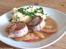 Schweinemedaillons in Apfelwein-Sauce mit Kartoffel-Frischkäse-Püree - Rezept