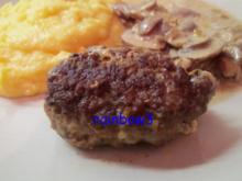 Kochen: Bifteki spezial mit Rahmchampignons - Rezept